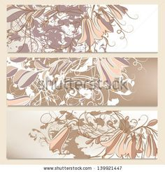 Vector set of floral banners for your  design by mashakotcur, via ShutterStock