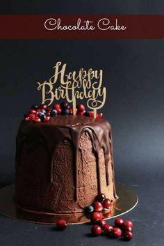 Mein Rezept für eine leckere Schokoladen Torte mit verschiedenen Beeren. Perfekt als Geburtstagstorte.