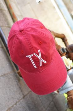 Charlie Southern Retro State Hat :: Red :: $28:: www.ShopGroovys.com :: red texas hat, texas ball cap, adjustable baseball cap
