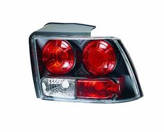 99-04 Ford Mustang JDM Black Altezza Euro Tail Lights