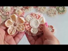 LUSCIOUS Shabby Chic Flowers! Very Soft, Fluffy, and Dimensional. - YouTube