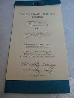 Easy DIY flip program #wedding #stationary #DIY