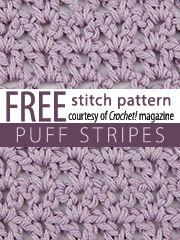 Free Stitch Patterns from Crochet! Magazine