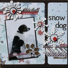 Snow Dog - Scrapbook.com
