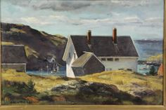 """Monhegan Island,'' Andrew George Winter, 1942, oil on canvas, 11 1/2 x 17 1/2"", private collection."
