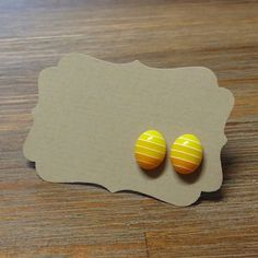 Hey, I found this really awesome Etsy listing at https://www.etsy.com/listing/183859338/yellow-easter-egg-earrings-for-easter