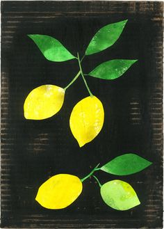 GOOD FOOD: lemons (poster). €45.00, via Etsy.