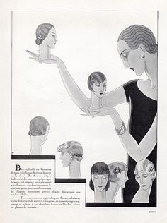 Auguste Bonaz (Combs) 1925 Hairstyle, Marcel Fromenti, Art Deco Style