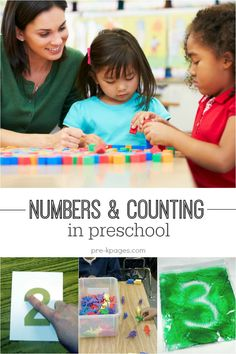 Ideas and Hands-On Learning Activities for Teaching Numbers and Counting in Preschool and Kindergarten. Make learning FUN!