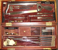 Civil War Surgical Set - and I thought today's medicine was barbaric Medical History, Us History, Ancient History, Historical Artifacts, Historical Photos, Vintage Medical, Civil War Photos, Medical Equipment, Military History