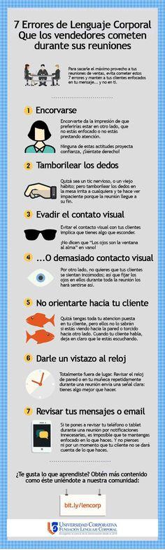 7 Errores que cometes al reunirte con un cliente #infografía #infographic #marketing