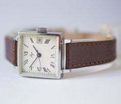 Square women's watch Ray silver shade wrist watch by SovietEra, $69.00
