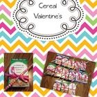 Valentine's for mini cereal boxes!  This is the free printable! :)