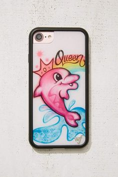 bb54f5b444c Urban Outfitters Airbrushed Dolphin iPhone 8 7 6 Case ad 6 Case