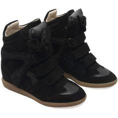 Isabel Marant Bekett basket sneakers ($560) ❤ liked on Polyvore