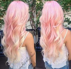 Pink and blonde pastel hair