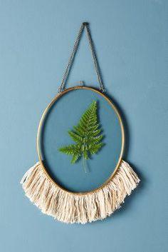 Anthropologie Fringed Hanging Frame