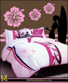 surfing theme bedroom decorating ideas