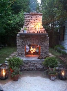 47 Awesome Small Fireplace Makeover Decoration Ideas Related posts: 38 Awesome Ideas To Makeover Outdoor Kitchen Decoration Backyard Garden Fence Decoration Makeover DIY Ideas 36 Awesome Small Balcony Garden Ideas Small Kitchen Decoration Ideas Outdoor Fireplace Plans, Outdoor Stone Fireplaces, Outside Fireplace, Outdoor Fireplace Designs, Backyard Fireplace, Small Fireplace, Backyard Patio, Fireplace Ideas, Fireplace Seating