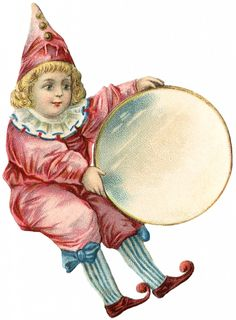 Free Antique Clown Girl Image from @Karen Jacot Jacot - The Graphics Fairy