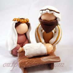 RESERVED FOR ANNETTE. Christmas nativity set. Polymer por Outpost8