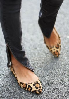Leopard flatted ladies shoes inspiration | Fashion and styles