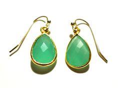 Blue Chalcedony Earrings by StaggsLane on Etsy, $30.00