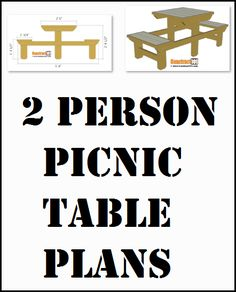 Two person picnic table plans, free PDF download, includes how-to drawings, measurements, and material list. Diy Picnic Table, Picnic Table Plans, Projects To Try, Pdf, How To Plan, Drawings, Free, Sketches, Drawing