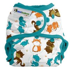 Best Bottoms Fox Find Diaper. This diaper is not for sale. You must win this from a diaper distributor's giveaway.
