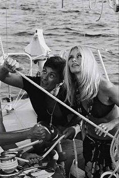 Alain Delon & Brigitte Bardot in St. Tropez