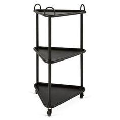 Check out this item at One Kings Lane! Samuel Triangular Bar Cart, Black