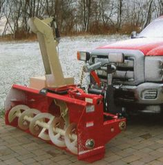 big pig truck mounted snowblower snow removal equip pinterest