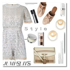 """""""Jumpsuits"""" by ilona-828 ❤ liked on Polyvore featuring Zuhair Murad, Burberry, Taschka, Madewell, Clinique, Marc Jacobs, Barry M, jumpsuits and polyvoreeditorial"""