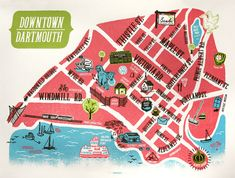 oh les petites choses Halifax Map, Family Roots, Dartmouth, The Province, Nova Scotia, Windmill, Screen Printing, Art Gallery, Coast