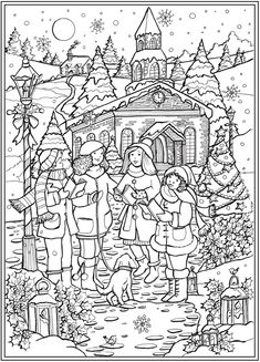 From: Creative Haven Country Christmas Coloring Book | Dover Publications