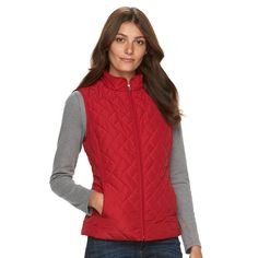 Women's Croft & Barrow® Classic Quilted Vest,