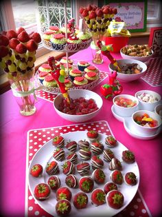 Strawberry Shortcake Party Table