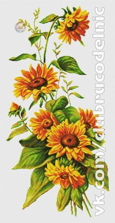 """""""A Sunflower"""" counted cross stitch pattern leaflet. Cross Stitch Books, Cross Stitch Flowers, Counted Cross Stitch Patterns, Cross Stitch Designs, Cross Stitch Embroidery, Pattern Books, Cross Stitching, Beautiful Flowers, Floral Wreath"""