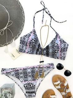 Chicnico Gypsy Two Piece Floral Print Bikini Set