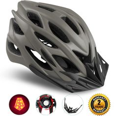 Shinmax Specialized Bike Helmet with Safety Light - Choice of Colours
