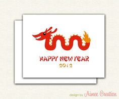 Year of the Dragon 2012 - printable cards