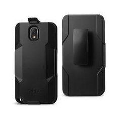 REIKO SAMSUNG GALAXY NOTE 3 3-IN-1 HYBRID HEAVY DUTY HOLSTER COMBO CASE IN BLACK