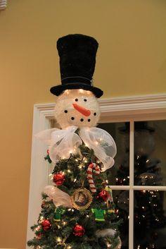 Snowman Head Christmas Tree Topper | christmas | Pinterest | Tree ...