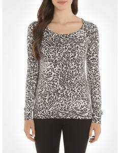 Chandail imprimé animal / Animal print sweater www.jacob.ca