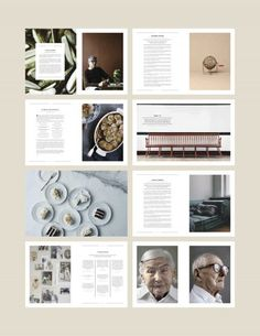 The minimalist, rustic nature of their spreads have real impact and power. I love the use of symbolic, slightly aged photography next to minimalist type. The overall aesthetic is soft, natural and environmentally focused.