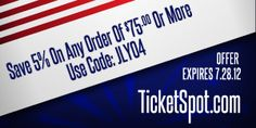 Save 5% On Any Order Of $75 or More ticket deal