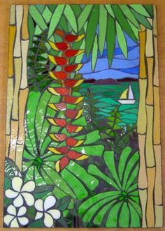 Tropical Scene Wall Hanging