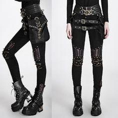 Cyber Punk Goth Gothic Pants Shorts Leggings for Men Women Page Five - Liquiwork