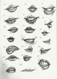 Different kinds of woman's lips to draw...tattoo inspiration