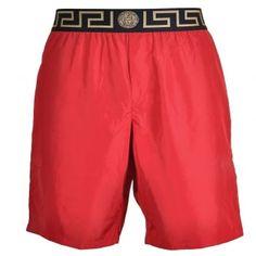 38429e9b13 Versace Iconic Greca Medusa Swim Shorts, Red